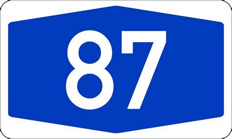Filebundesautobahn 87 Numbersvg  Wikimedia Commons