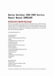 Harley Davidson 1984 1999 Service Repair Manual Download