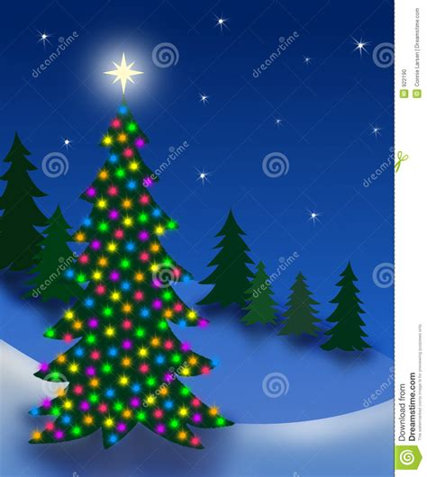 christmas eve tree stock photo image