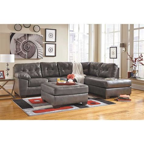 raf chaise sectional alliston gray 2pc sectional w raf chaise 0n2 201rc 2pc
