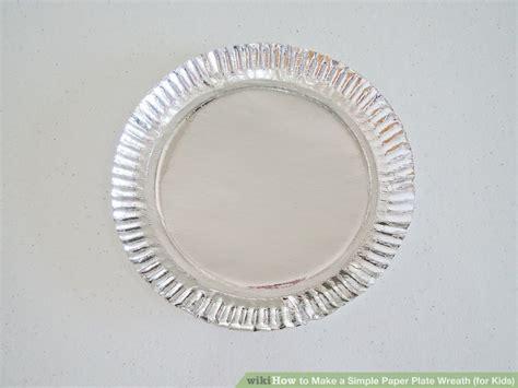simple paper plate wreath  kids  steps