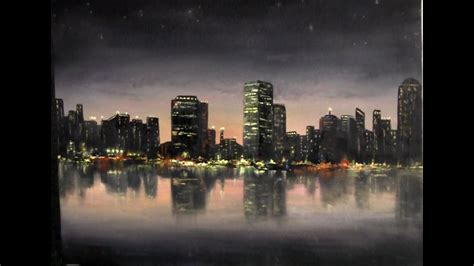 paint  kevin hill city lights painting youtube