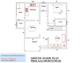 floor plans 1000 square floor house plan 1000 sq ft kerala home design and