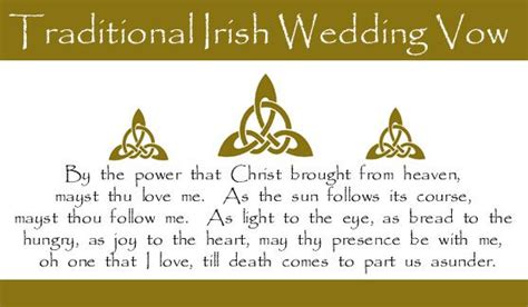 traditional celtic wedding vows full wedding magazine