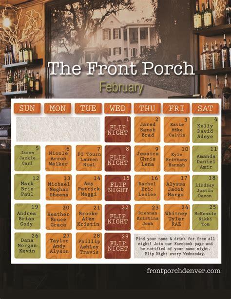 Front Porch Calendar by The Front Porch S Name Calendar Front Porch