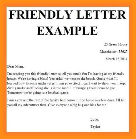 friendly business letter format memo