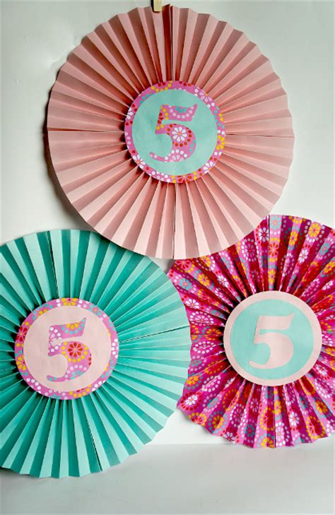 project decoration birthday decorations paper fan birthday decor think crafts by createforless