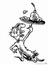 Ham Eggs Coloring Seuss Dr Pages Printable Getcolorings Bettercoloring sketch template