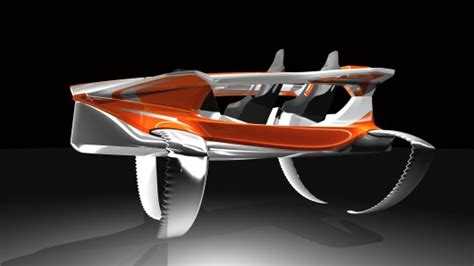 Man Powered Hydrofoil Boat by The Quadrofoil Ecologically Sound Electric Hydrofoil
