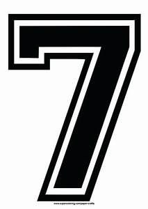 Black Football Shirt Number 7 Template Free Printable