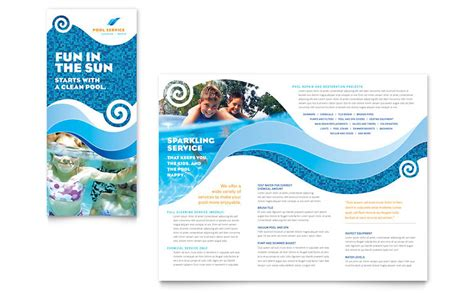 swimming pool cleaning service brochure template word