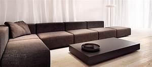 Gray Modular Sofa Interior Design Ideas