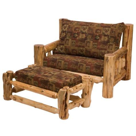 fireside cedar log lounge chair w o ottoman