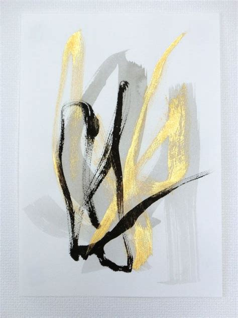 Abstract Black Gold Painting by 1000 Images About Metallic Abstract On