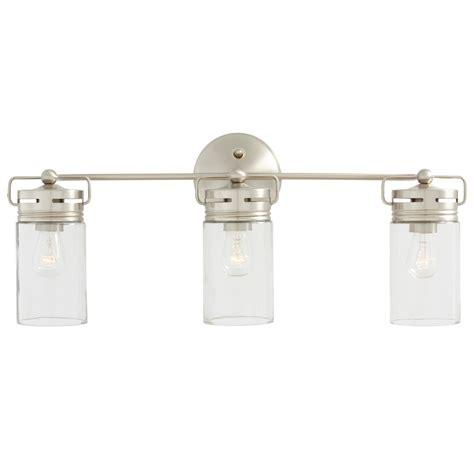 shop allen roth vallymede 3 light 24 02 in brushed nickel cylinder vanity light at lowes com