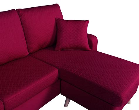 red sectional sofa with chaise modern fabric small space sectional sofa with reversible
