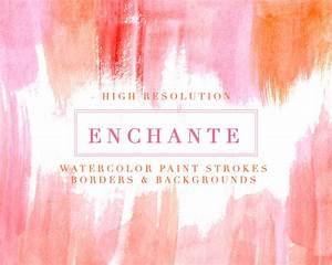 Enchante Watercolor Paint Strokes Splash Clipart