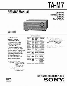 Sony Dhc-md7  St-m9  Ta-m7 Service Manual