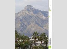 Mountain View Of La Concha Marbella Spain Stock Photo