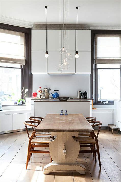 cuisine luminaire ambiance cosy par le luminaire led dans une cuisine