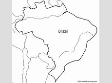Outline Map Brazil EnchantedLearningcom