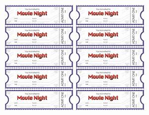 make your own movie night tickets With create your own tickets template