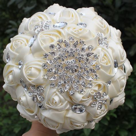 hnadmade marfim ivory color artificial flowers bouquets