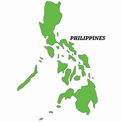 Philippine Philippines Map Vector Outline Islands Clipart