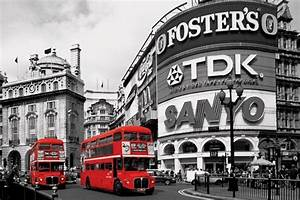 London Red Bus Piccadilly Circus Poster Sold At