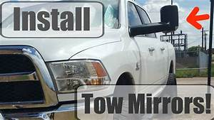 Dodge Tow Mirrors Review  Install For 2013-2016 Ram