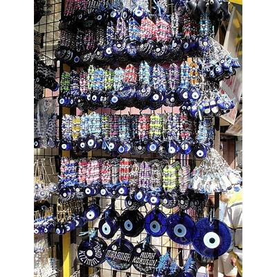 Nazar Amulet Jewelry Display Protects from Evil Eye in