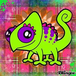 Chameleon cartoon Picture #124908948 | Blingee.com