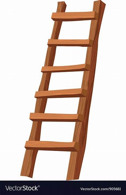 Ladder Vector Wooden Vectorstock Royalty