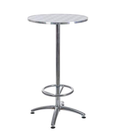 table de bar table haute de bar ronde en m 233 tal avec repose pieds damier noir et blanc wadiga