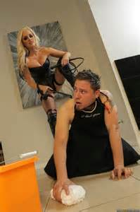 Mistress Alena Croft Gets Rough In The Office Photos