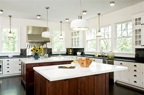 two island kitchen kitchen with 2 islands transitional kitchen emily gilbert photography