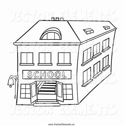 Clipart Buildings Outlined Building Office Clip Story