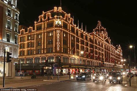 harrods unveils  luxurious christmas window display