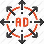 Ad Icon Icons Advertisement Premium Expand Arrow