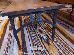 table basse pied fer forg 233 plateau bois ch 234 ne 233 poque d 233 co vintage indus