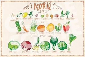 Calendrier Fruits Et Légumes De Saison : calendrier de fruits et l gumes de saison avril ~ Nature-et-papiers.com Idées de Décoration