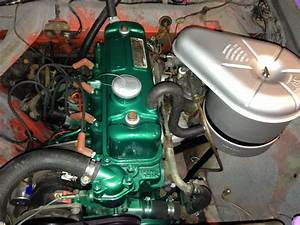 Cleaned And Painted Austin Healey Engine  New Fuel And Air