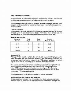 pto policy sample fill online printable fillable With paid time off policy template