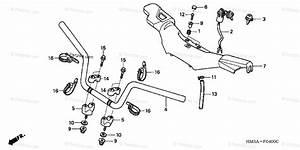 Honda Atv 2001 Oem Parts Diagram For Handlebar  Trx300ex