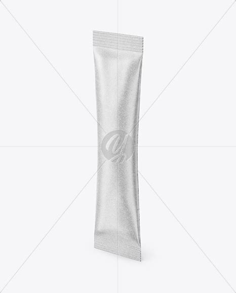 Includes a golden layer for your design. Kraft Stick Sachet Mockup - Half Side View in Sachet ...