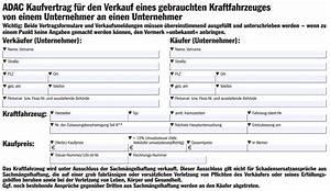 Adac Kaufvertrag Auto Privat An Unternehmer Ausreise Info