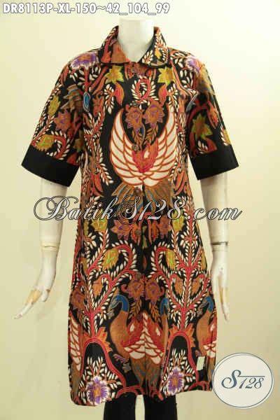 model baju batik modern trend  dress batik berkelas