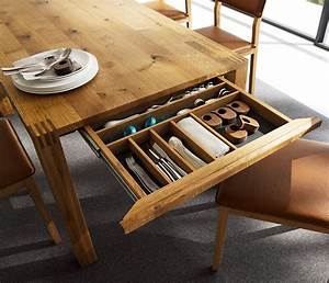 Luxury solid wood table - Loft TEAM 7 - Wharfside