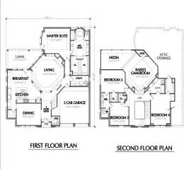 2 story cabin plans two story home plan e1022