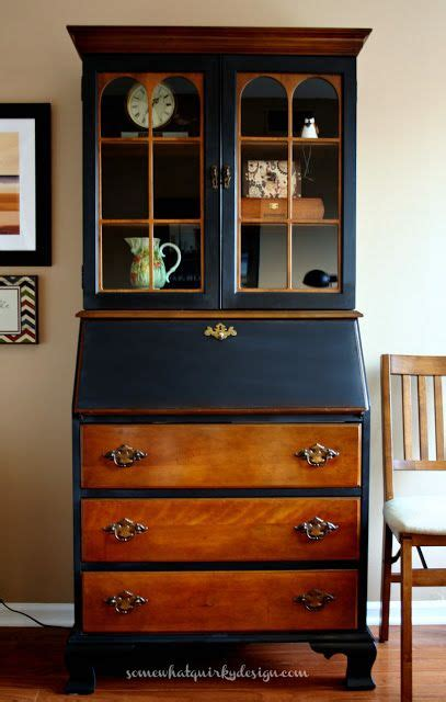 quirky secretary furniture makeover  love